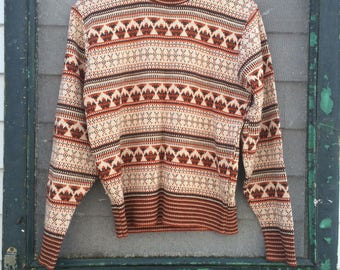 Vintage 70's earth mens vintage clothing pullover sweater