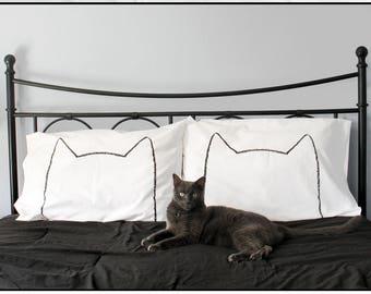 Cat Lover Gift, Funny Pillow Cases, Cat Nap Pillowcase Set, Philadelphia, Cute Gift for Her, wabi sabi