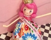 If the crown fits wear it doll ornament pageant girl vintage retro inspired high maintenance queen princess ornament