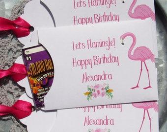 Flamingo Party - Flamingo Favors - Flamingo Gift - Flamingo Party Favor - Adult Party Favors - Lottery Ticket Favor - Pink Flamingo