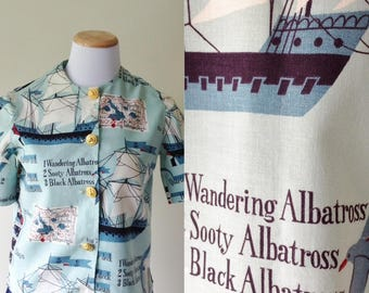 Ancient Mariner Cropped Blouse | 1960s