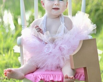 First Birthday Outfit Girl, Pink and Gold 1st Birthday Outfit Girl, Cake Smash Outfit Girl, SEWN Tutu Skirt, Tulle Skirt, 1st Birthday Tutu