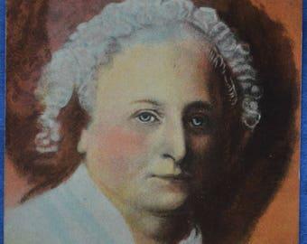 Art Portrait of Martha Washington by Gilbert Stuart Vintage Postcard