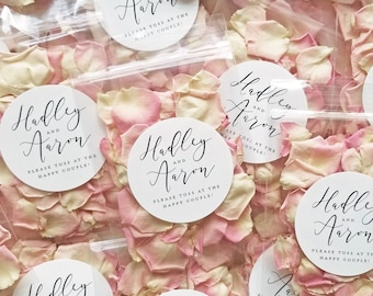 Wedding Petal Toss Packets - Biodegradable Flower Confetti Bags - Dried Lavender Buds, Pink, White, Ivory, Red, Purple, Yellow Rose Petals