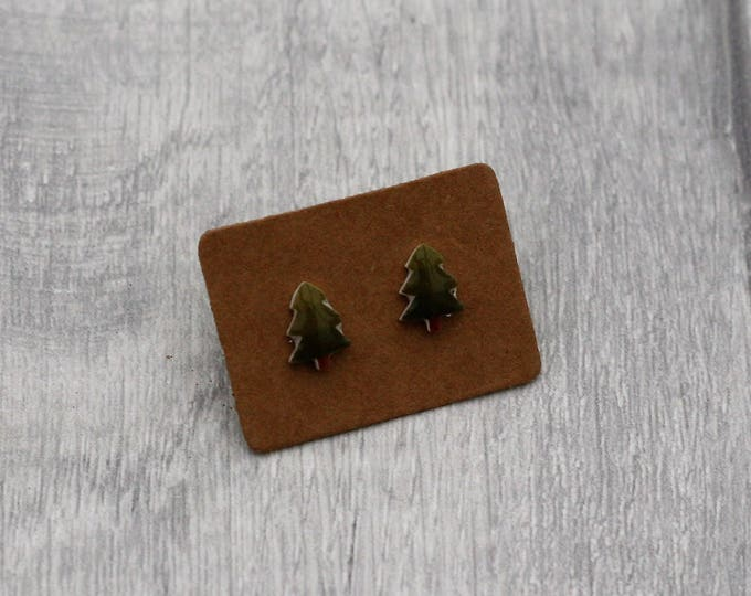 Tree Earrings, Teeny Tiny Earrings, Tree Jewelry, Cute Earrings