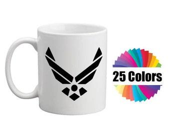 Coffee Cup Mug Decal Air Force Emblem Air Force Emblem Custom DIY Tumbler To Go Cup DIY Gift Decal