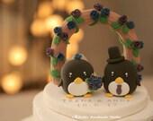penguin wedding cake topper (K441)