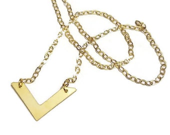 Shooting Arrow Gold Filled Necklace