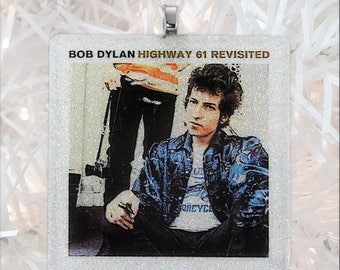 Bob Dylan-Highway 61 Revisited Album Cover Glass Ornament