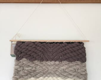 Grey/White Woven Wall Hanging