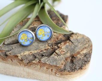 Oregon Grape State Flower Illustrated Earrings | ATL-E-ORG