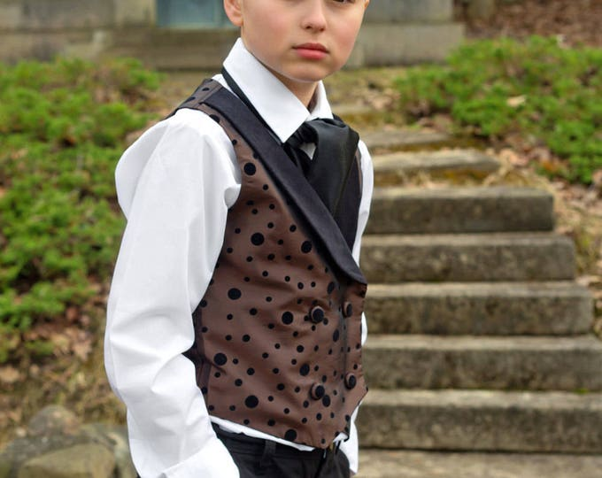 Harry Potter - Boys Vest and Ascot - Dressy Vest - Ring Bearer - Ravenclaw Outfit - Birthday Outfit - Toddler Clothes - Boy Outfit 2T - 10