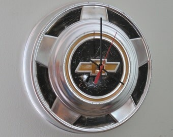 1970 Chevy Truck Hubcap Clock No. 2523