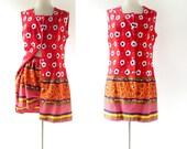 Vintage 1960s Playsuit   Blumenfelder   Shorts Set   Large L