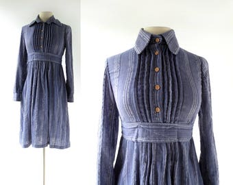 Vintage Gauze Dress | Werkbund | 1960s Dress | Gay Gibson Dress | XS