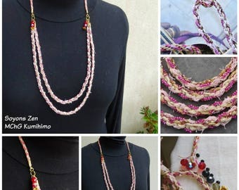 Zen: kumihimo necklace OOAK