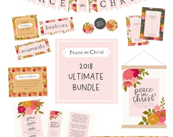 2018 Young Womens Peace in Christ Mutual Theme BUNDLE