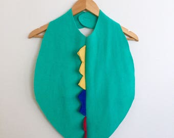 Dinosaur Cape in Aqua, Halloween Costume or Dress Up Dinosaur Cape