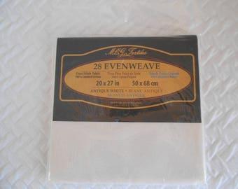 DESTASH - MCG Textiles 28 Evenweave Cross Stitch Fabric