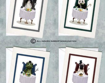 Notecards Set - Animal Notecards - Greeting Cards - 'Who's Coming To Tea?'