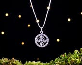 Sterling Silver Double Vajra - (Pendant, Necklace, or Earrings)