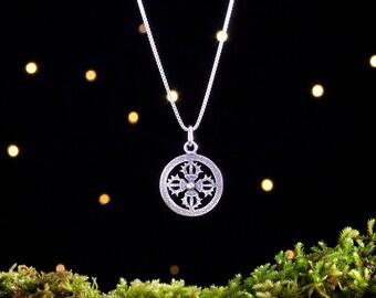 Sterling Silver Double Vajra, Tibetan Dorje - (Pendant, Necklace, or Earrings)