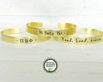 Pi Beta Phi Bracelet - Pi Beta Phi Jewelry - Sorority Bracelet - Sorority Jewelry - Big Little Gift - Sorority Gift - Pi Beta Phi Arrow