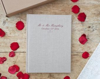 Personalised Linen Wedding Album