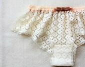 White Flower Lace Sleep Boxer/style SHIBAZAKURA (made to order)
