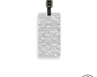 Luggage Tag Bubble Wrap Image Luggage Tag Personalized Back Strap inlucded Funny