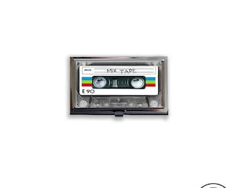 Business Card Case Mixtape Retro Cassette Tape Fits Business Credit Debit and Gift Cards