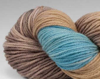 Handpainted DK weight yarn, 100% SW Merino, Spry115, 115 g, Rhyolite Robin's Egg