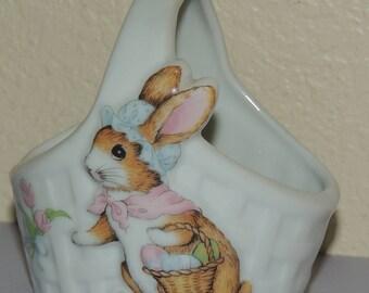 BUNNY Ceramic Basket made in JAPAN
