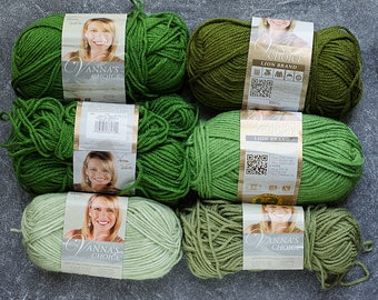Yarn Destash, Lion Brand Yarn, Clearance Yarn, Acrylic Yarn, Green Yarn, Yarn Sale, Yarn for Sale, Yarn Lot, Sale Yarn, Destash Yarn Sale