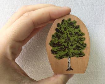 Tree Stamp - Woodland Stamp - Kodomo no Kao