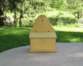 Small Yellow Wall Box