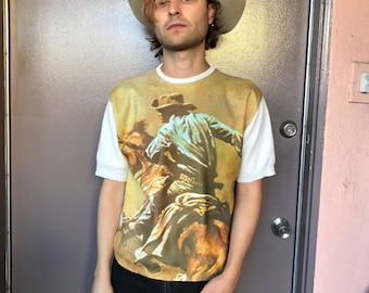 70s Cowboy on Horse - shirt
