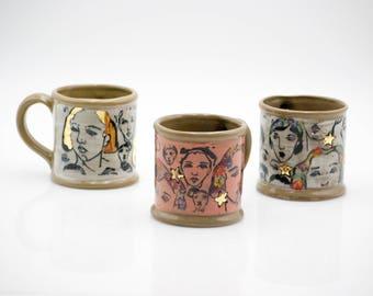 Handmade Mug - Stoneware Cup - Gift for her - pottery mug - housewarming gift - empowering gift - large coffee mug - coffee lover gift