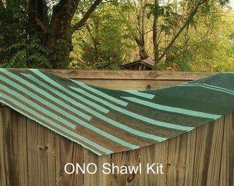 Ono Shawl - SHAWL KIT  -- Color Changing Cotton yarn (150 gr/720 yards)