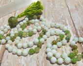 Jade Mala, Green Garnet M...