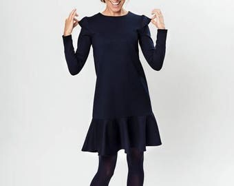 SALE - Autumn dress | Minimalist dress | Low waist dress | LeMuse autumn dress