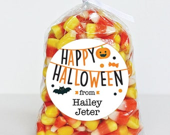 Halloween Stickers - Happy Halloween Party Banners - Sheet of 12 or 24