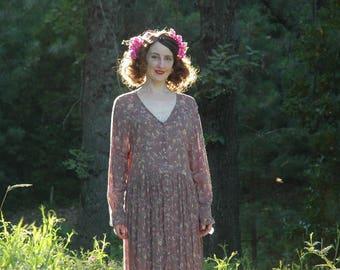 Plus Size / Long Sleeve/ Modest/ Bohemian/ Dress / Boho / Gypsy Boho Dress / Loose Dress /Gypsy Clothing Style / Boho Dress