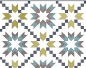 Ohana Quilt Pattern - Star Quilt Pattern - Fat Quarter Friendly - FQ Quilt Pattern - PieceNQuilt Pattern - Throw Quilt Pattern