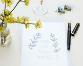 Wedding Logo TWO BRANCHES, DIY Wedding, Wedding Monogram, Floral Wedding Logo, Digital Monogram, floral Branding Personalized Custom Wedding