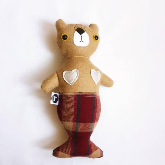 Bear Furrmaid in Tan Wool - READY TO SHIP