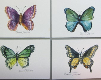 4 Butterflies 4 x 6 Original Watercolor paintings You Choose one or more by WatercolorsNmore