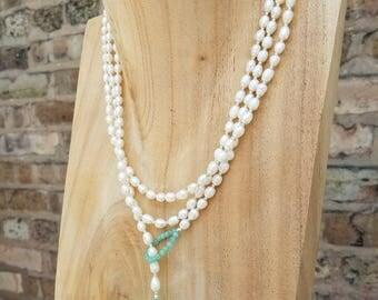 Elegant Pearl Wrap-Around Neckalace