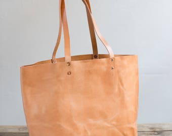 Leather Tote in Wickett & Craig Waxed Harness