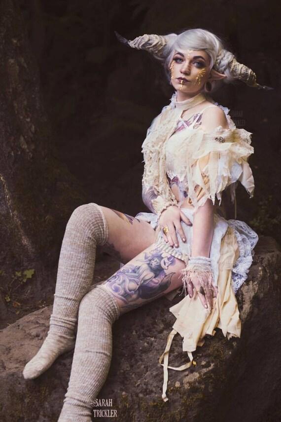 Deconstructed Burlesque ...Vintage Lace Bustle